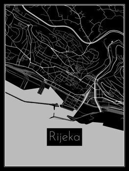 Karta över Rijeka