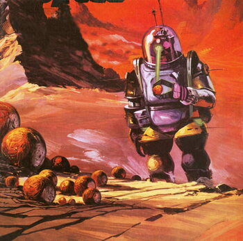 Konsttryck Robots envisaged on the red planet