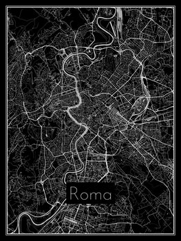 Karta över Roma