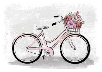 Illustration Romantic Bike