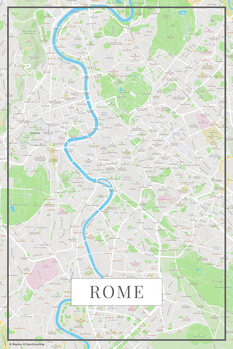 Karta över Rome color