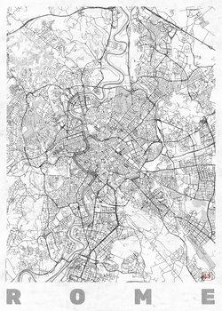 Karta över Rome
