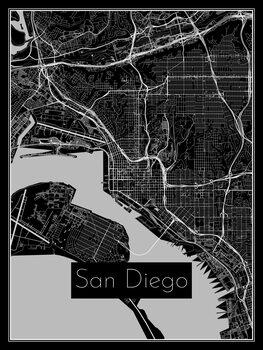 Karta över San Diego