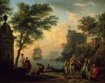 Konsttryck Seaport, 1763