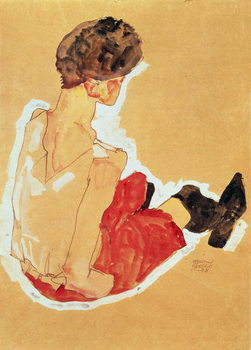 Konsttryck Seated Woman, 1911