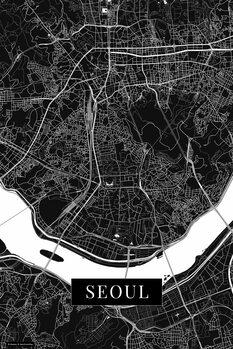 Karta över Seoul black