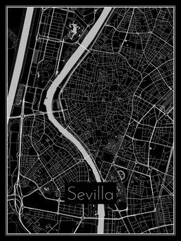 Karta över Sevilla