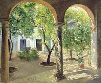 Konsttryck Shaded Courtyard, Vianna Palace, Cordoba