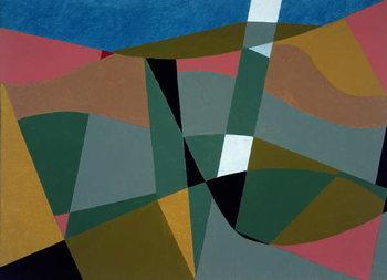 Konsttryck Shafted Landscape, 2001