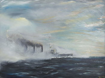 Konsttryck SMS Emden 'The Swan of the East' 1914, 2011,