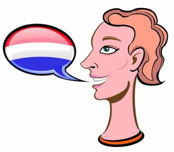 Konsttryck Speaking Dutch - illustration