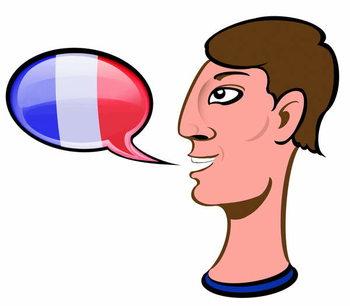 Konsttryck Speaking French - illustration