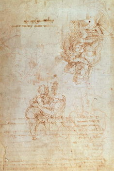 Konsttryck Studies of Madonna and Child