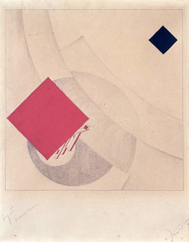 Konsttryck Study for 'This is the end' from the 'Story of Two Squares', 1920