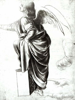 Konsttryck Study of an Angel (chalk on paper)