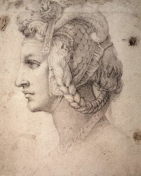 Konsttryck Study of Head