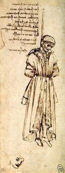 Konsttryck Study of the Hanged Bernardo di Bandino Baroncelli, assassin of Giuliano de Medici, 1479