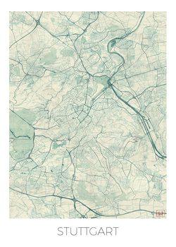 Karta över Stuttgard