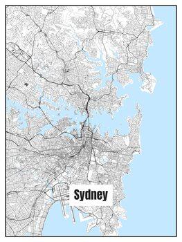 Karta över Sydney