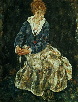 Konsttryck The Artist's wife seated, c.1912