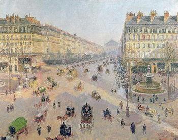 Konsttryck The Avenue de L'Opera, Paris, Sunlight, Winter Morning, c.1880