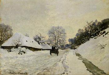 Konsttryck The Cart, or Road under Snow at Honfleur, 1865