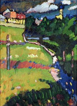 Konsttryck The Church in Murnau, 1908-09