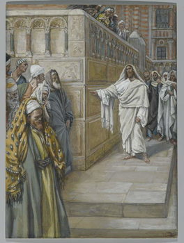 Konsttryck The Corner Stone, illustration from 'The Life of Our Lord Jesus Christ', 1886-94