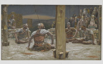 Konsttryck The Four Guards Sat Down and Watched Him, illustration from 'The Life of Our Lord Jesus Christ', 1886-94