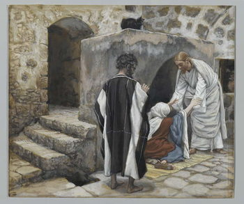 Konsttryck The Healing of Peter's Mother-in-Law, illustration from 'The Life of Our Lord Jesus Christ'