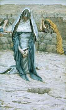 Konsttryck The Holy Virgin in Old Age, illustration for 'The Life of Christ', c.1884-96