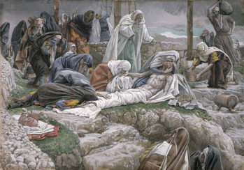 Konsttryck The Holy Virgin Receives the Body of Jesus, illustration for 'The Life of Christ', c.1884-96