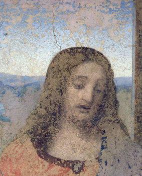 Konsttryck The Last Supper, 1495-97 (fresco) (post restoration)