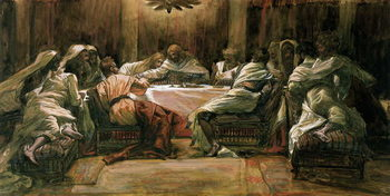 Konsttryck The Last Supper. Judas Dipping His Hand in the Dish, illustration for 'The Life of Christ', c.1884-96