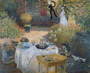 Konsttryck The Luncheon: Monet's garden at Argenteuil, c.1873