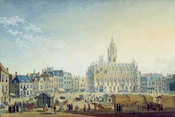 Konsttryck The Main Square, Middelburg, 1812