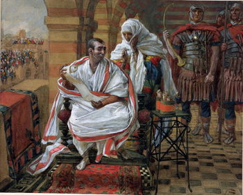Konsttryck The Message of Pilate's Wife, illustration for 'The Life of Christ', c.1886-94