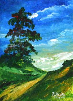 Konsttryck The old oak, 2015