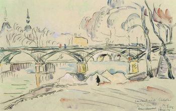 Konsttryck The Pont des Arts, 1924