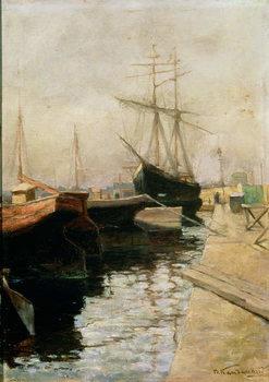 Konsttryck The Port of Odessa, 1900