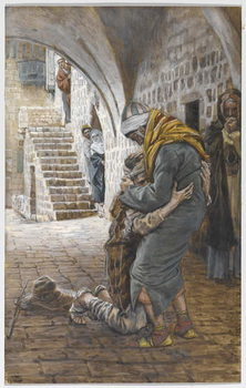 Konsttryck The Return of the Prodigal Son, illustration for 'The Life of Christ', c.1886-96