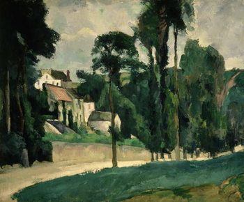 Konsttryck The Road at Pontoise, 1875