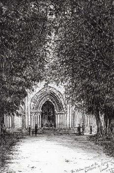Konsttryck the Roman Door l'abbey de blassimon, 2010,