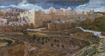 Konsttryck The Temple of Herod in our Lord's Time, c.1886-96 (gouache on paperboard)