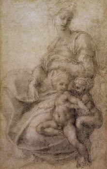Konsttryck The Virgin and Child with the infant Baptist, c.1530