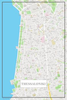 Karta över Thessaloniki color