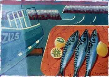 Konsttryck Three Mackerel