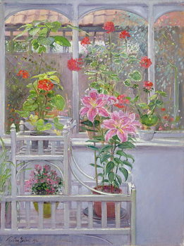 Konsttryck Through the Conservatory Window, 1992