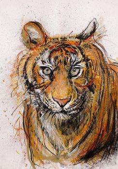 Konsttryck Tiger, 2013,