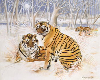 Konsttryck Tigers in the Snow, 2005